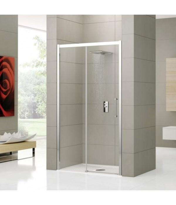 Душевая дверь в нишу Novellini Rose rosse 2P ROSE2P114S-1K 114-120 см L