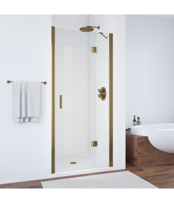 Душевая дверь в нишу Vegas Glass AFP 100 05 01 R профиль бронза, стекло прозрачное