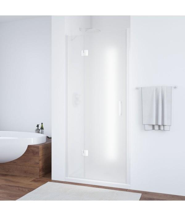 Душевая дверь в нишу Vegas Glass AFP 100 01 10 L профиль белый, стекло сатин