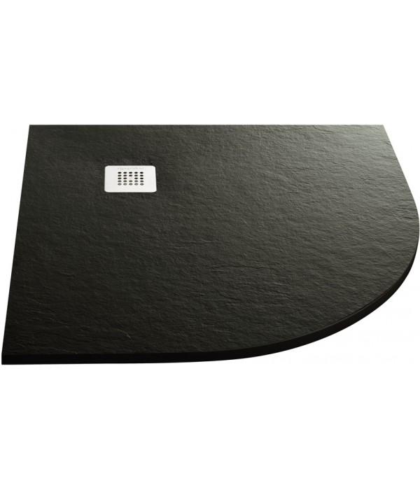 Поддон для душа Acquabella Base Slate 90x90 R negro