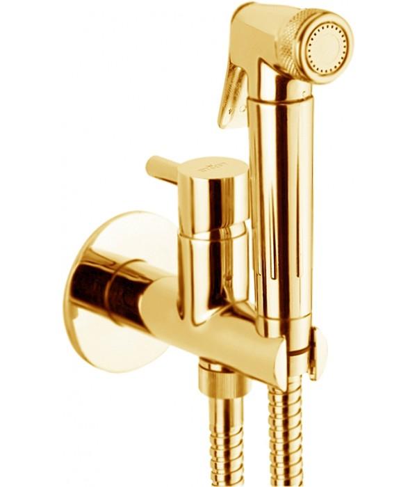Гигиенический душ Webert Elio EL870301010 со смесителем, золото