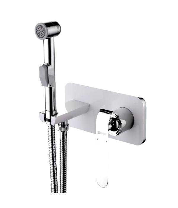 Гигиенический душ Lemark Melange LM4919CW со смесителем, С ВНУТРЕННЕЙ ЧАСТЬЮ