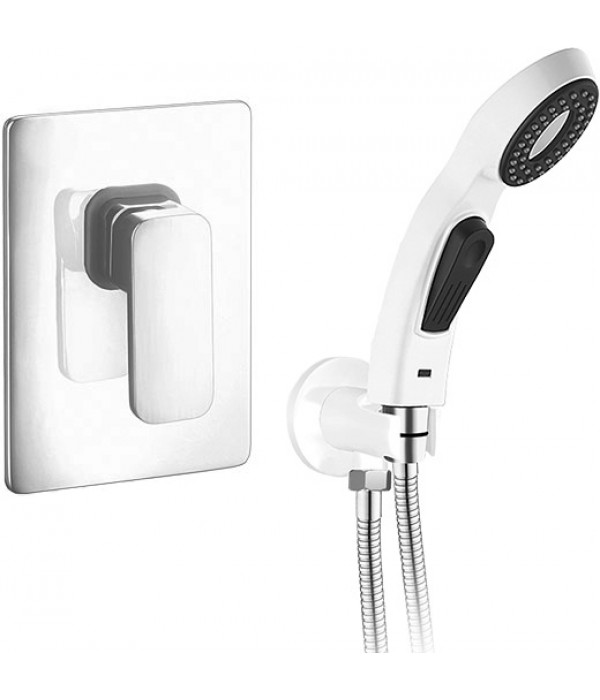 Гигиенический душ Elghansa Mondschein White 3420235-BR07 со смесителем