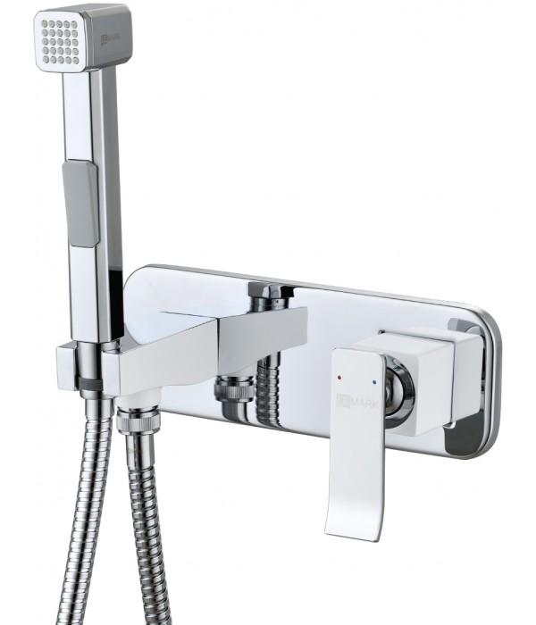 Гигиенический душ Lemark Contest LM5819CW со смесителем, С ВНУТРЕННЕЙ ЧАСТЬЮ