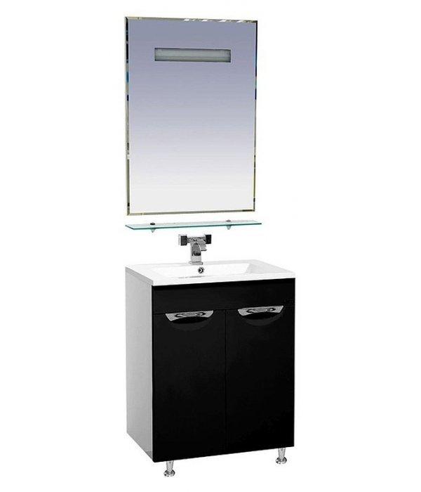 Комплект мебели для ванной 60 15.6 М черный