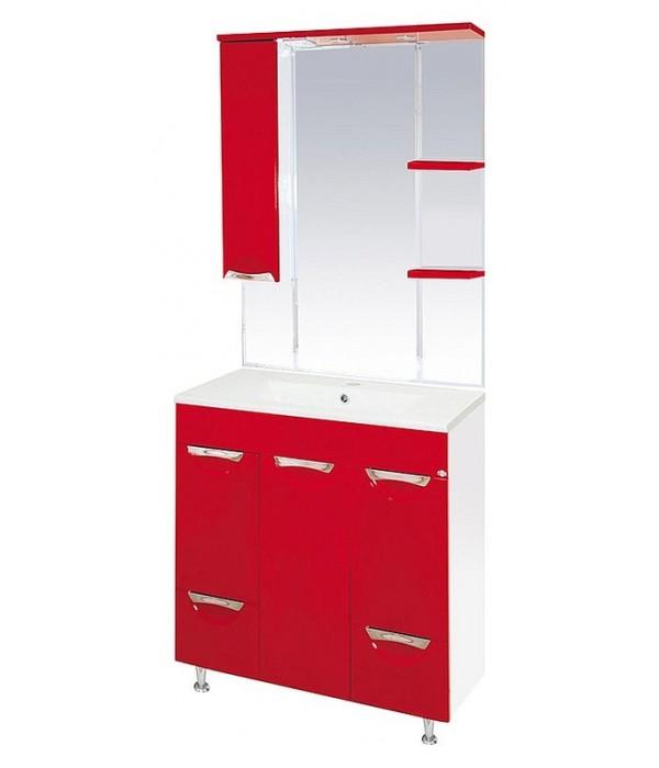 Комплект мебели для ванной 75 15.6 М красный