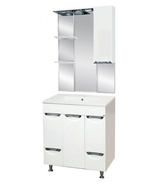Комплект мебели для ванной 75 15.6 М белая