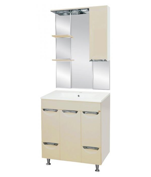 Комплект мебели для ванной 75 15.6 М бежевый