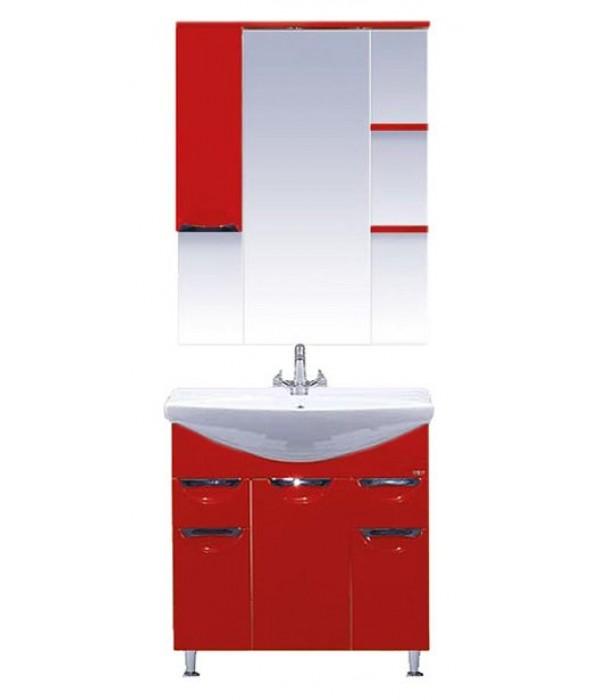 Комплект мебели для ванной 75 15.7 М красный