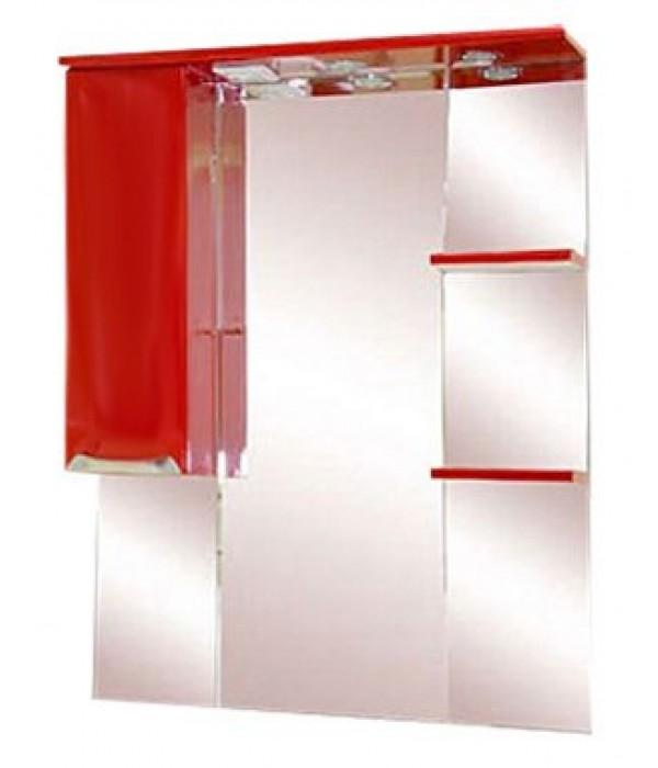 Шкаф-зеркало 75 15.7 М красный
