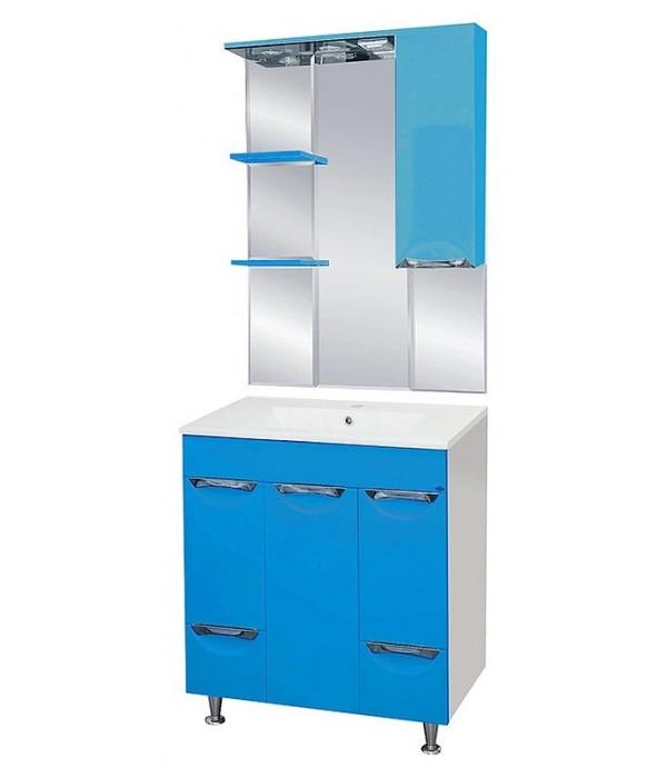 Комплект мебели для ванной 75 15.6 М голубая