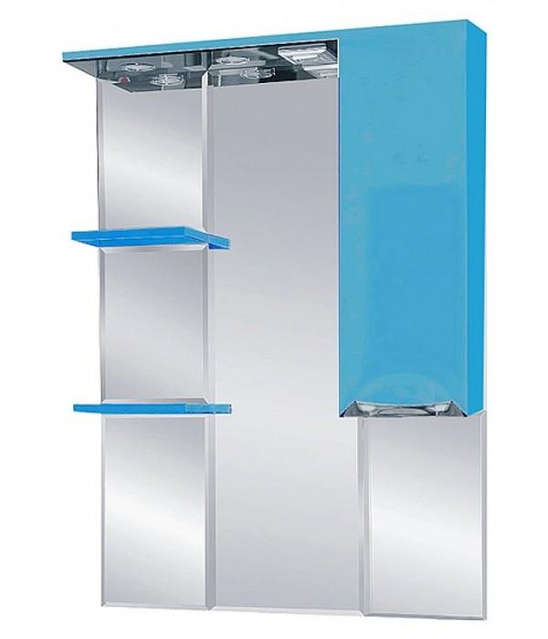 Шкаф-зеркало  75 15.6 М R голубой