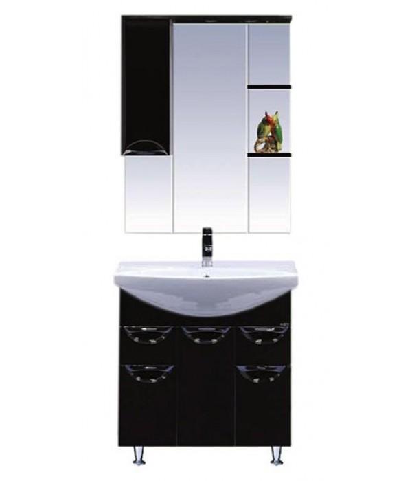 Комплект мебели для ванной 75 15.7 М черный