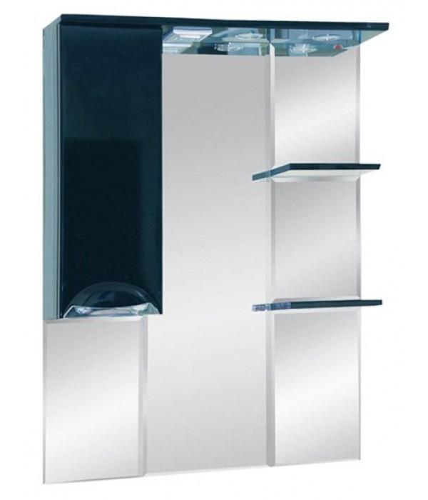 Шкаф-зеркало 75 15.7 М черный