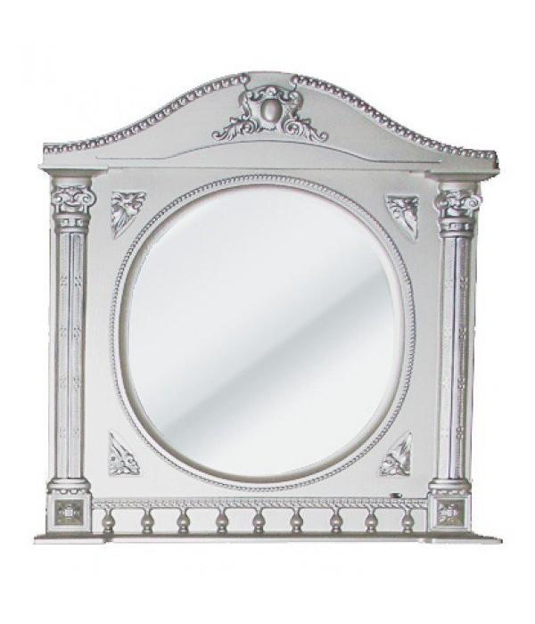 Зеркало Атолл Наполеон 187 серебряная патина