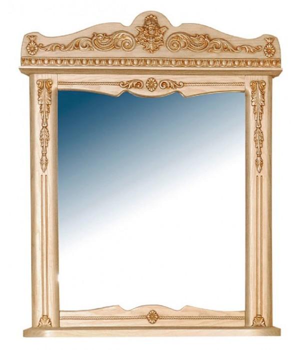 Зеркало Атолл Ясень патина (золото)