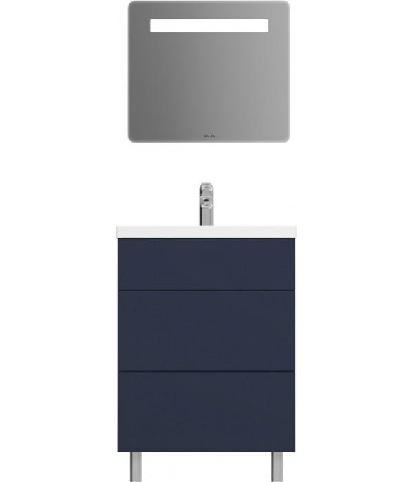 Комплект мебели Am.Pm Gem 60 напольная с 2 ящиками, синий