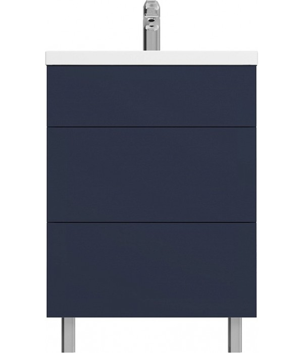 Тумба с раковиной Am.Pm Gem 75 напольная с 2 ящиками, синий