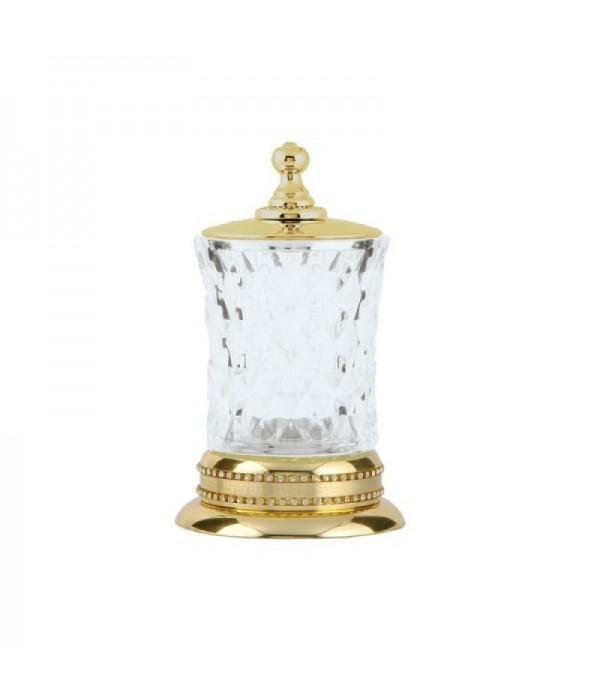 Настольный стакан для ватных дисков Boheme Imperiale 10415 золото