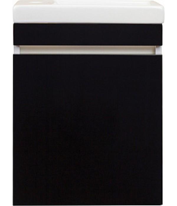 Тумба с раковиной Style Line Compact 40 Люкс, черный