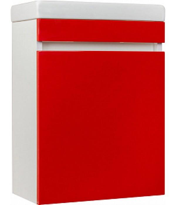 Тумба с раковиной Style Line Compact 40 Люкс, красный
