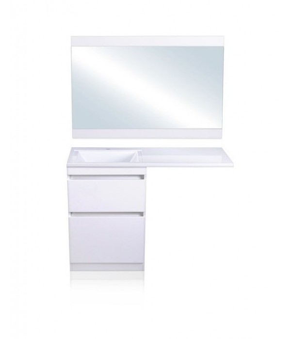 Комплект мебели Style Line Даллас 120 Люкс Plus напольная, белая