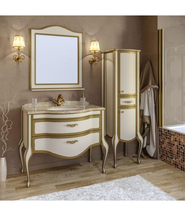 Комплект мебели Timo Ellen plus 100 M-V, бежевый с золотом