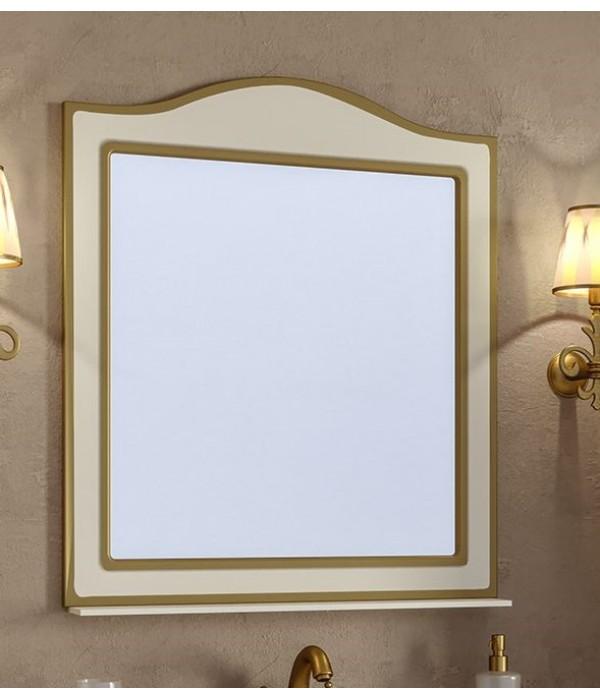 Зеркало Timo Ellen plus 80 M с полочкой, бежевый с золотом