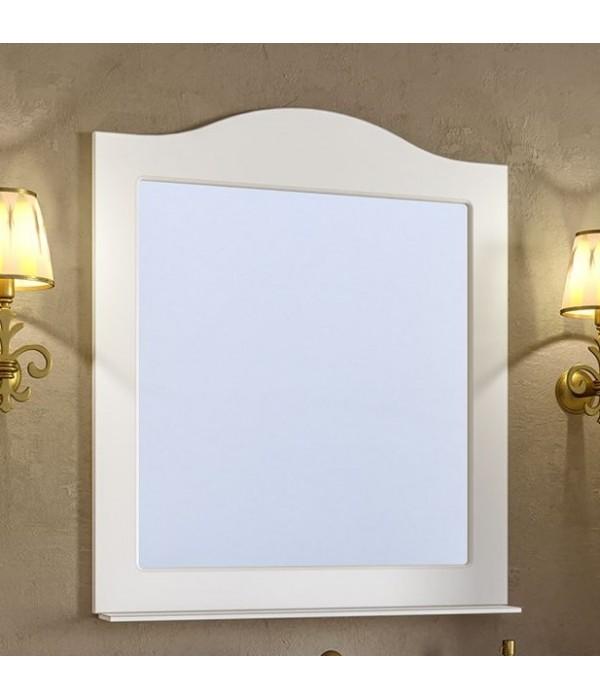 Зеркало Timo Ellen plus 80 M с полочкой, белый