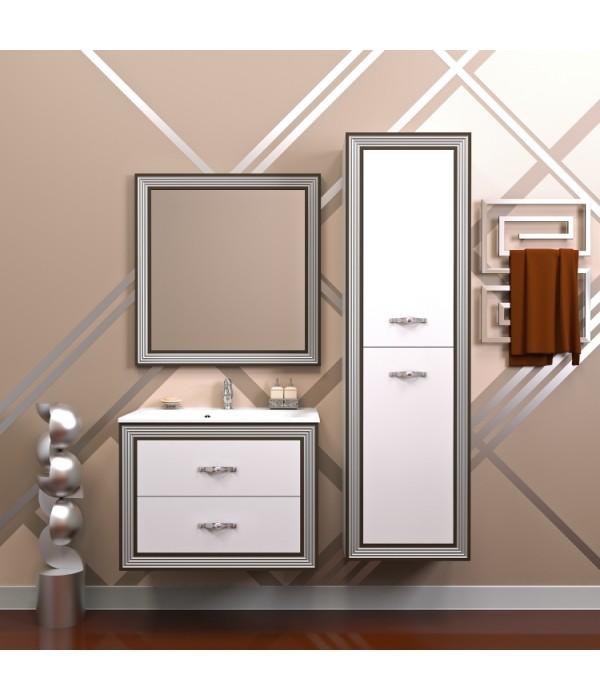 Комплект мебели Opadiris Карат 80, белый/серебро