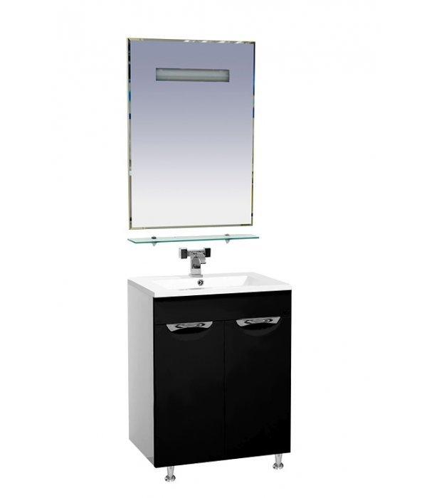 Мебель для ванной 60 15.6 М черная
