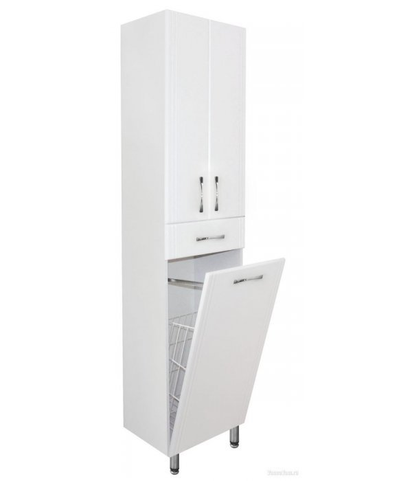 Шкаф-пенал Style Line Эко Стандарт 48 с бельевой корзиной