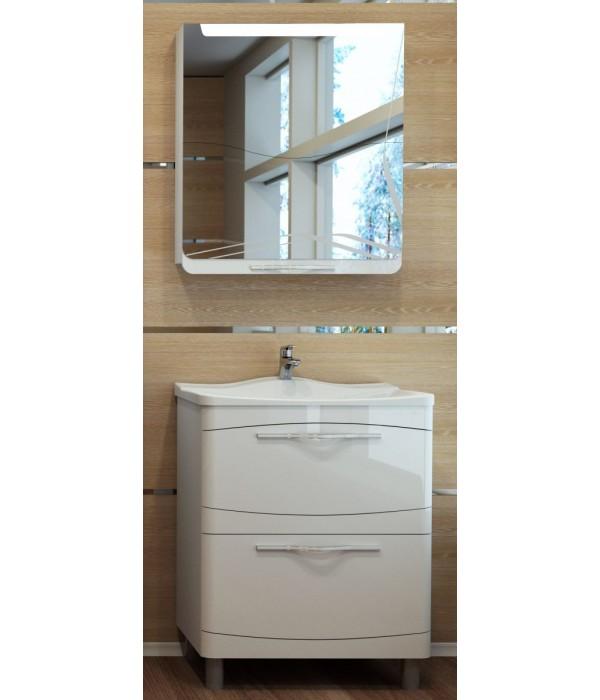 Комплект мебели Velvex Iva 65 напольная, белый