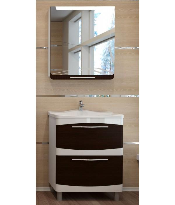 Комплект мебели Velvex Iva 65 напольная, белый/венге