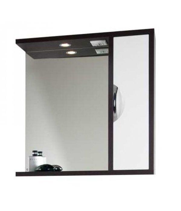 Зеркало для ванной 75 1.9, белый/венге