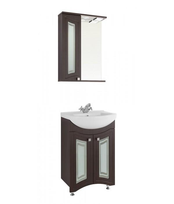 Комплект мебели 55 (фасад стекло) 1.36, венге
