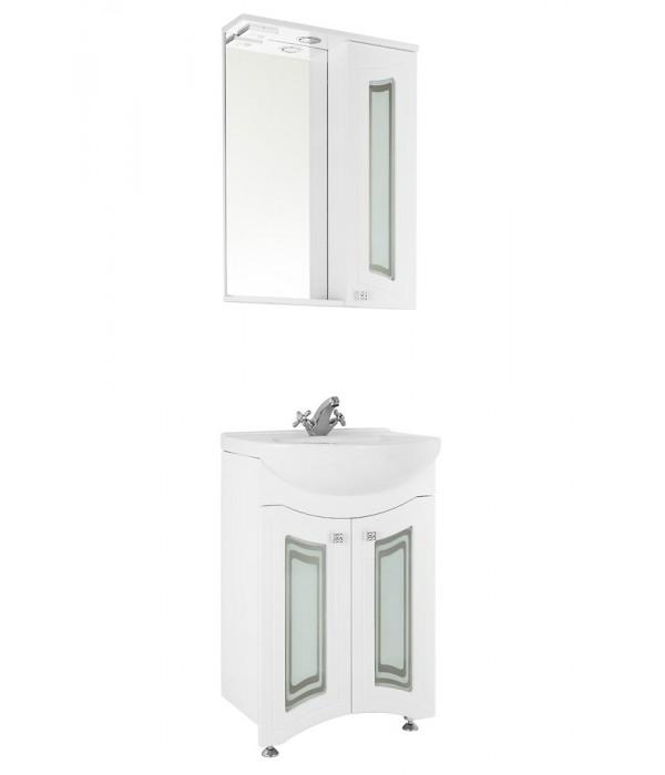 Комплект мебели 55 (фасад стекло) 1.36, белый