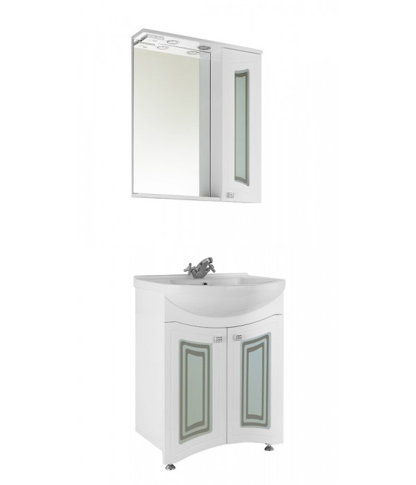 Комплект мебели 65 (фасад стекло) 1.36, белый
