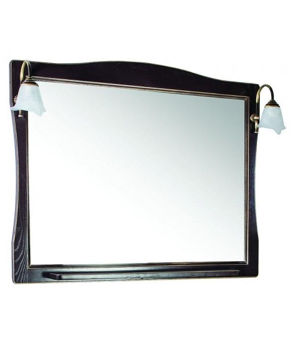 Зеркало ASB-Woodline Модена 105 орех с золотой патиной массив ясеня