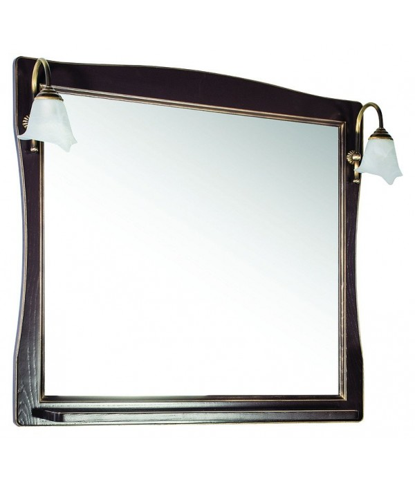 Зеркало ASB-Woodline Модена 85 орех с золотой патиной массив ясеня