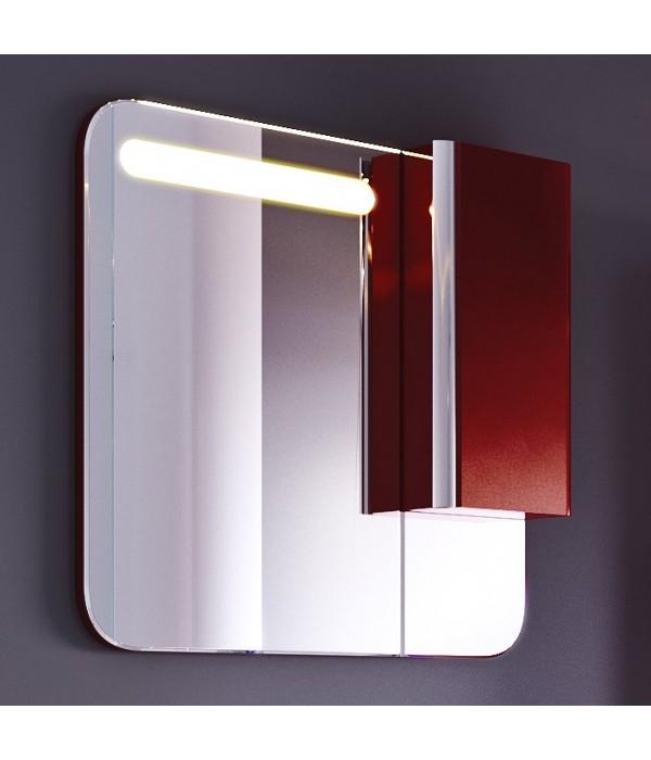 Шкаф-зеркало Alavann Ларго 80 темный кармин
