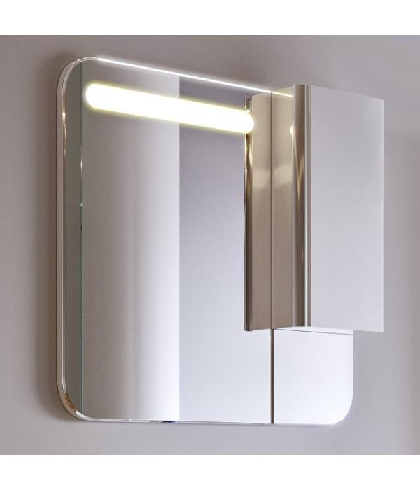 Шкаф-зеркало Alavann Ларго 80 белый кальцит