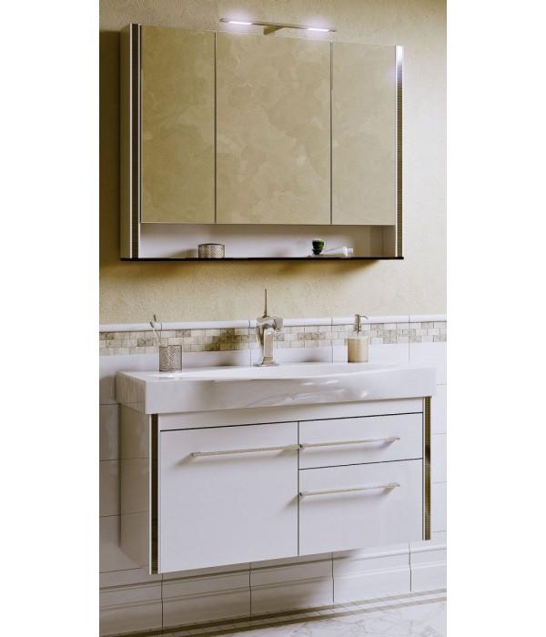 Комплект мебели Alavann Лайра 100 белый кальцит