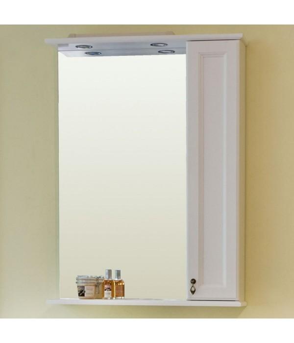 Зеркало-шкаф Аллигатор Милана 2 55, белый