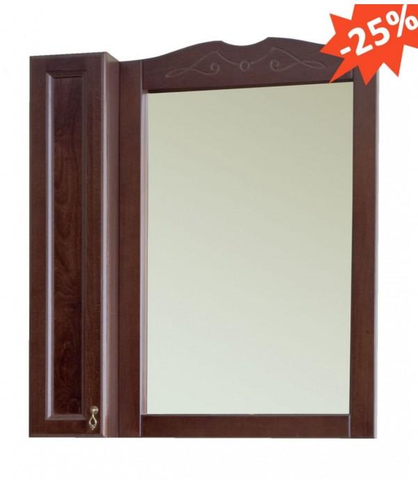 Зеркало-шкаф Аллигатор Милана 4 55 фасад, орех