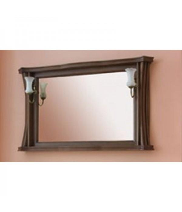 Зеркало Аллигатор Классик 125 в раме, коричневый