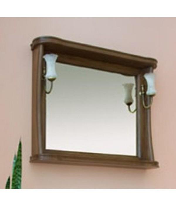 Зеркало Аллигатор Классик 100 в раме, коричневый