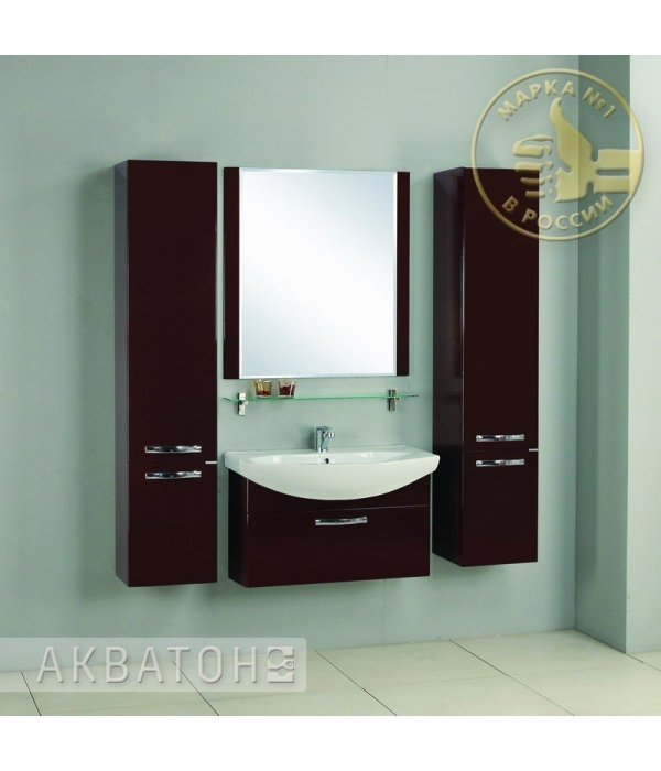 Комплект мебели Акватон Ария 80 темно-коричневая