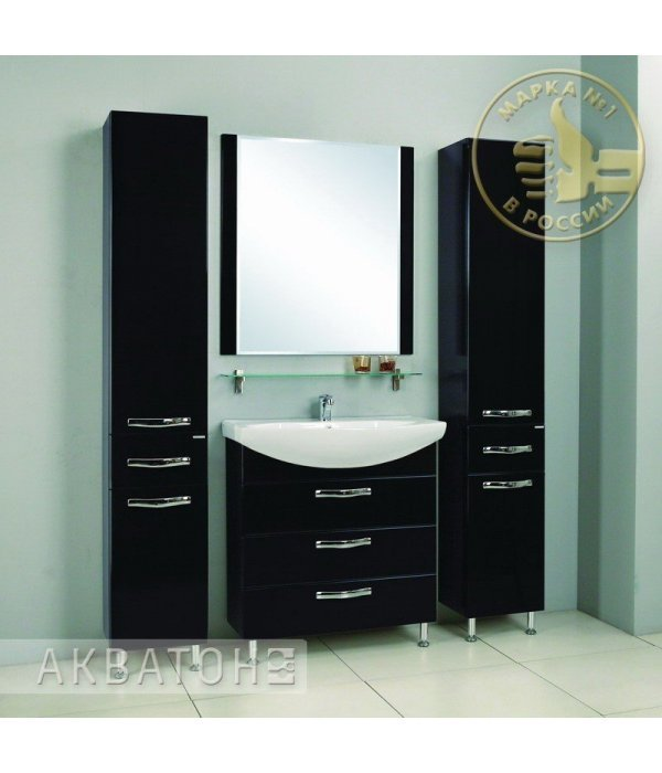 Комплект мебели Акватон Ария 80 Н черный глянец