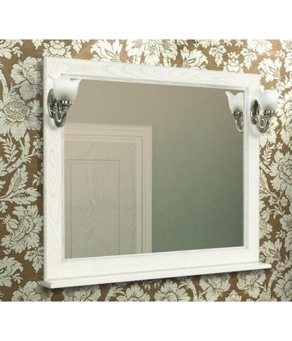 Зеркало Акватон Жерона 105 белое золото